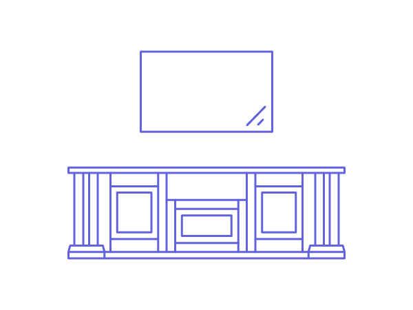 Тумба под телевизор из массива