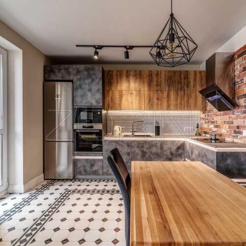 Угловая кухня из МДФ Альберта
