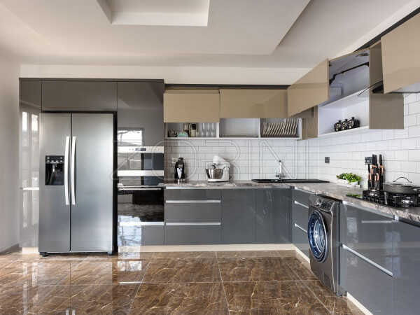 Угловая кухня Мондриана