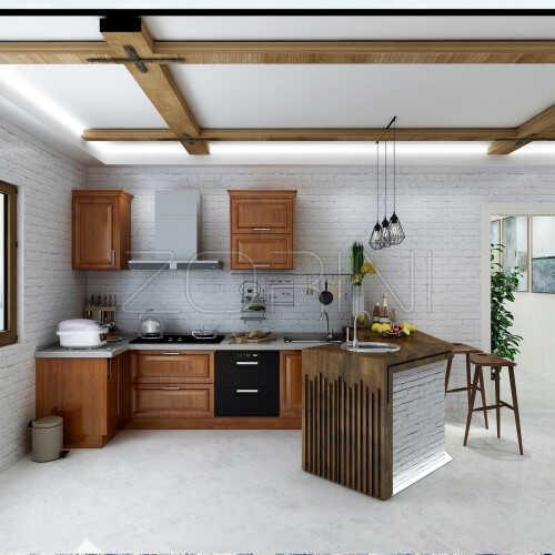 Кухня из дуба Акация
