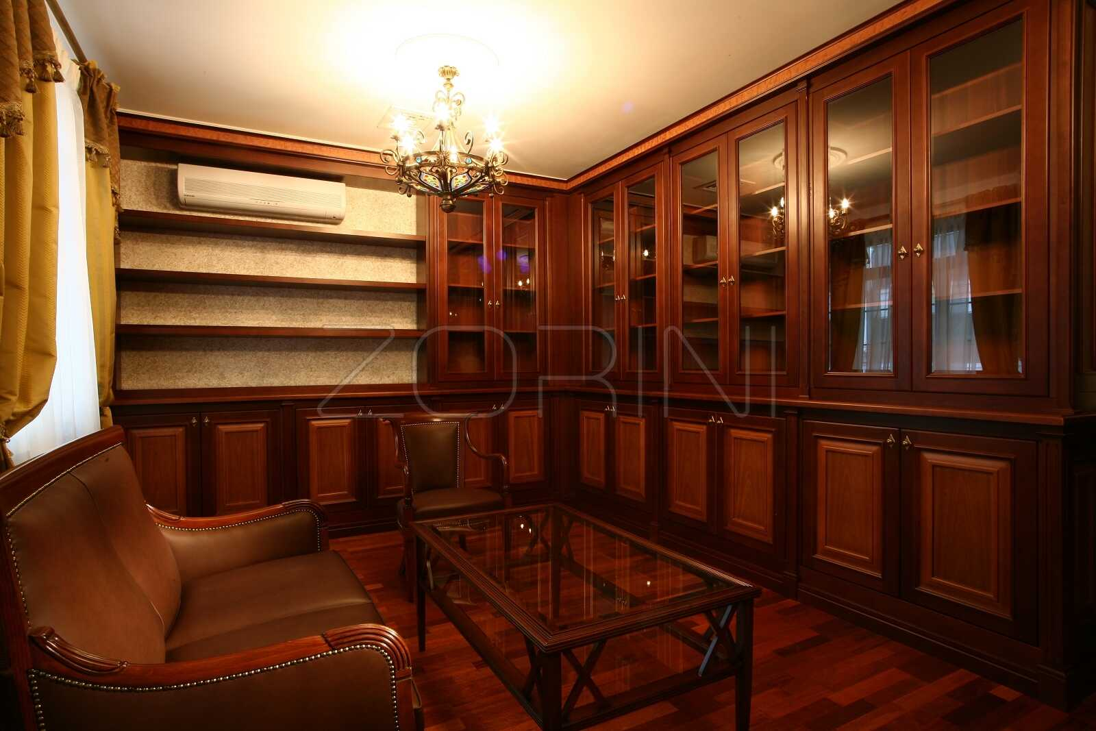 Угловые книжные шкафы Карла - фото