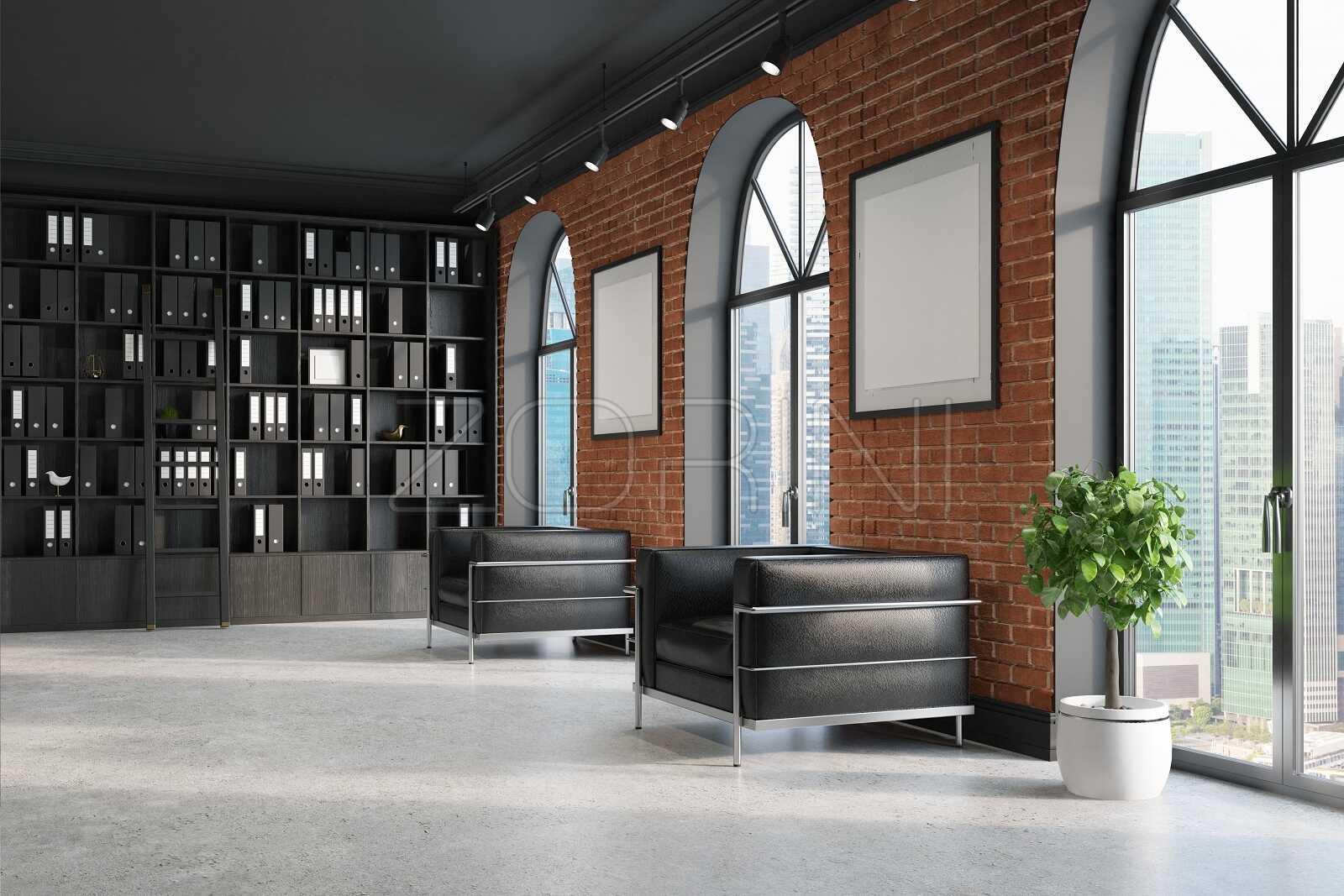 Коричневые  книжные шкафы Адана - фото