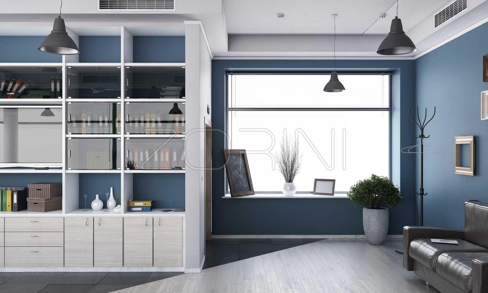 Синие книжные шкафы Агилера - фото