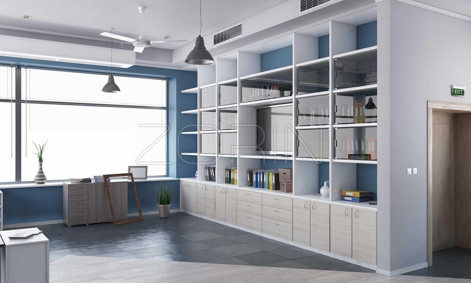 Библиотеки и книжные шкафы Агилера от Zorini - фото