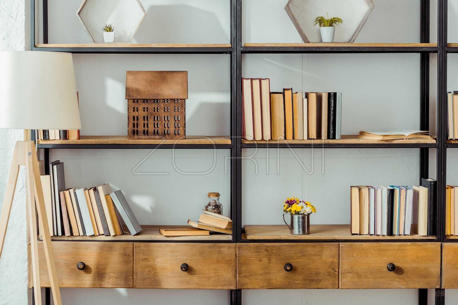 Узкие книжные шкафы Бегунок - фото