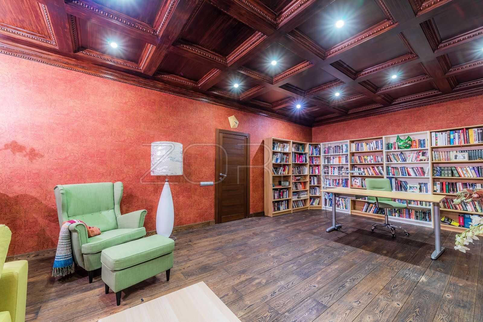 Угловые книжные шкафы Дублин - фото