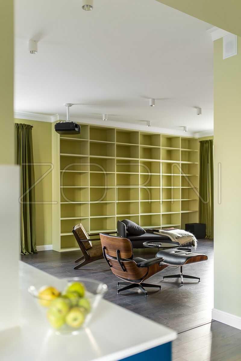 Зеленые книжные шкафы Мерсин - фото