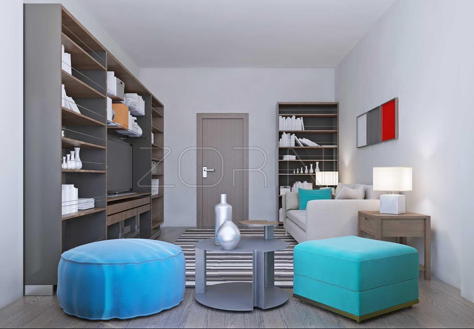 Библиотеки в гостиную Тубан - фото