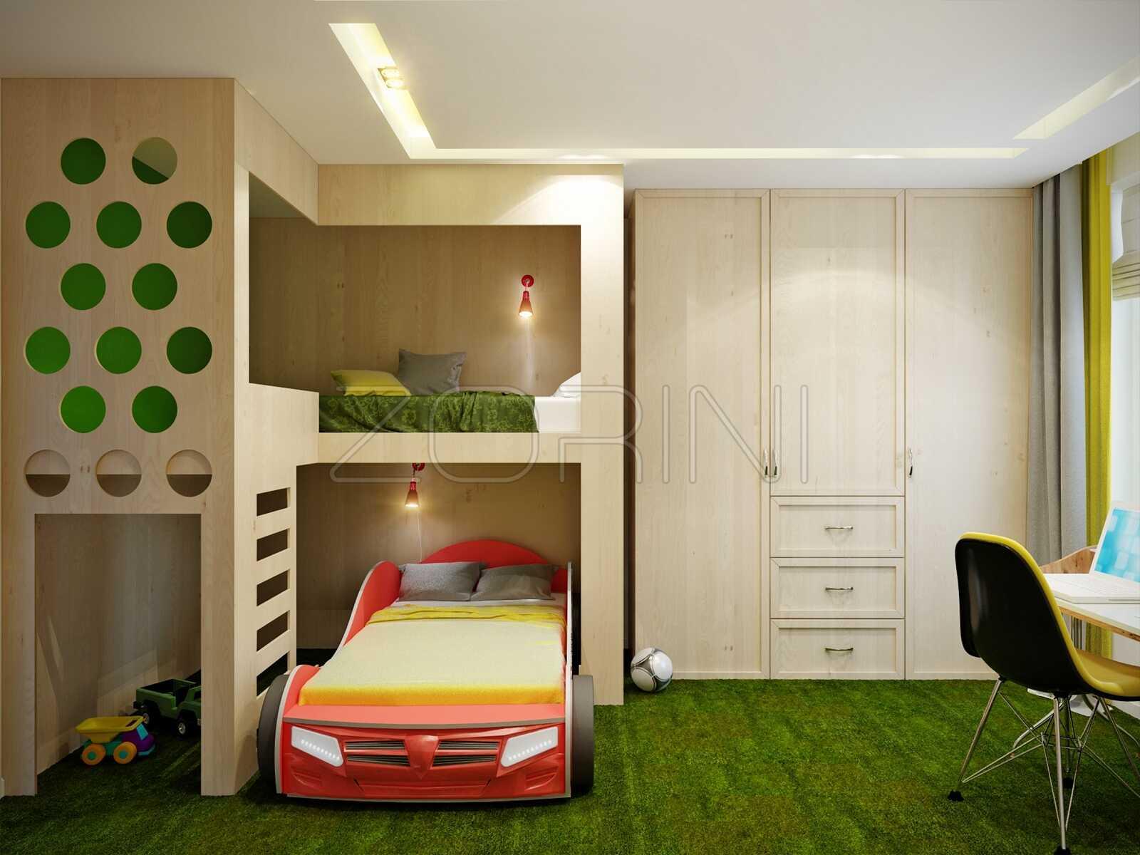 Двухярусная кровать для детей Патры - фото