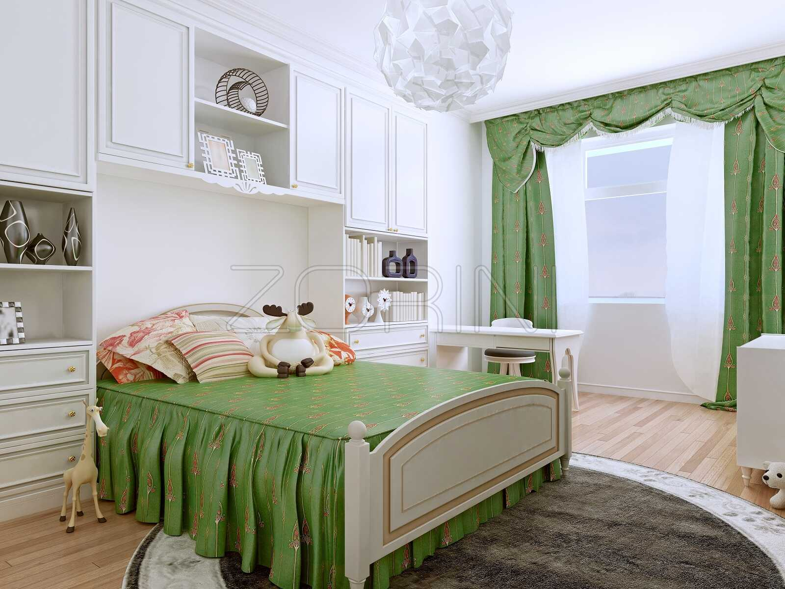 Кровать в детскую из массива дерева Медвежонок - фото