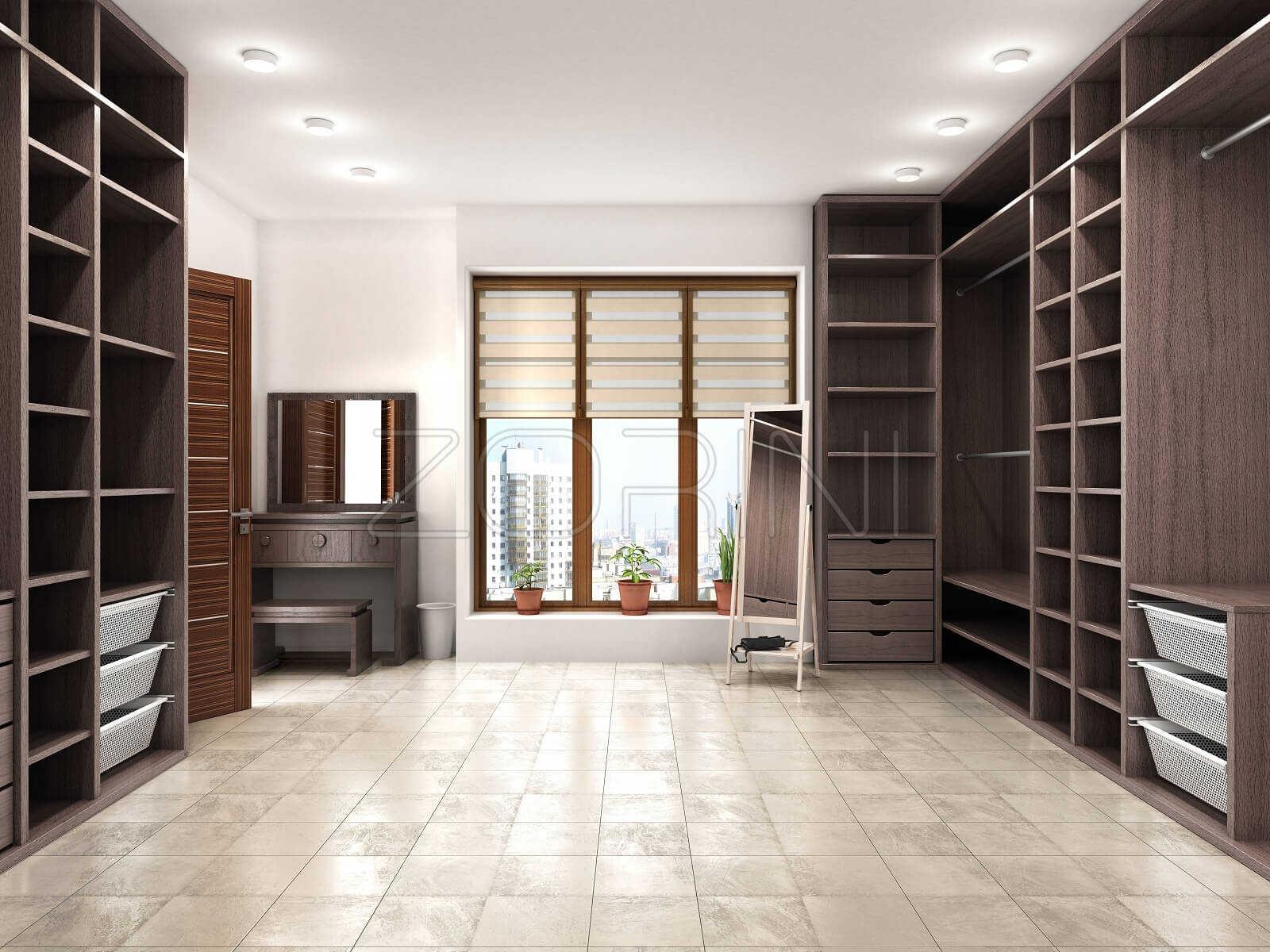 Гардеробные шкафы в стиле минимализм Абрикос - фото
