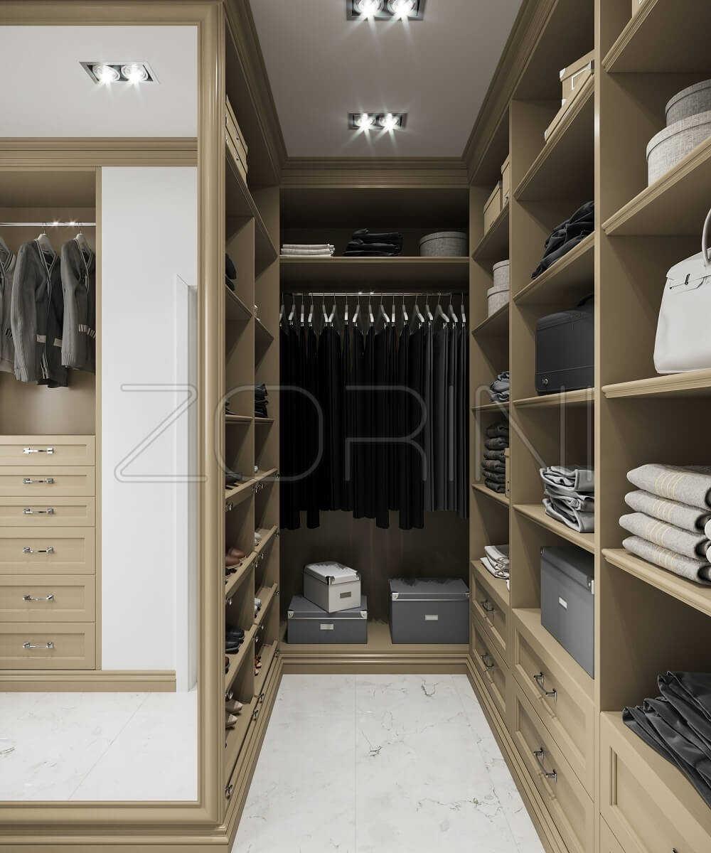 Гардеробные шкафы Альзир неоклассика - фото