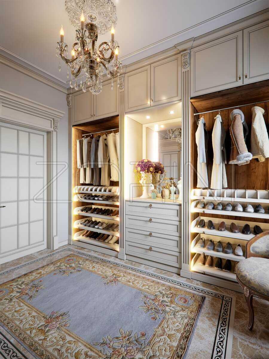Гардеробная комната Вивальди в стиле Барокко  - фото
