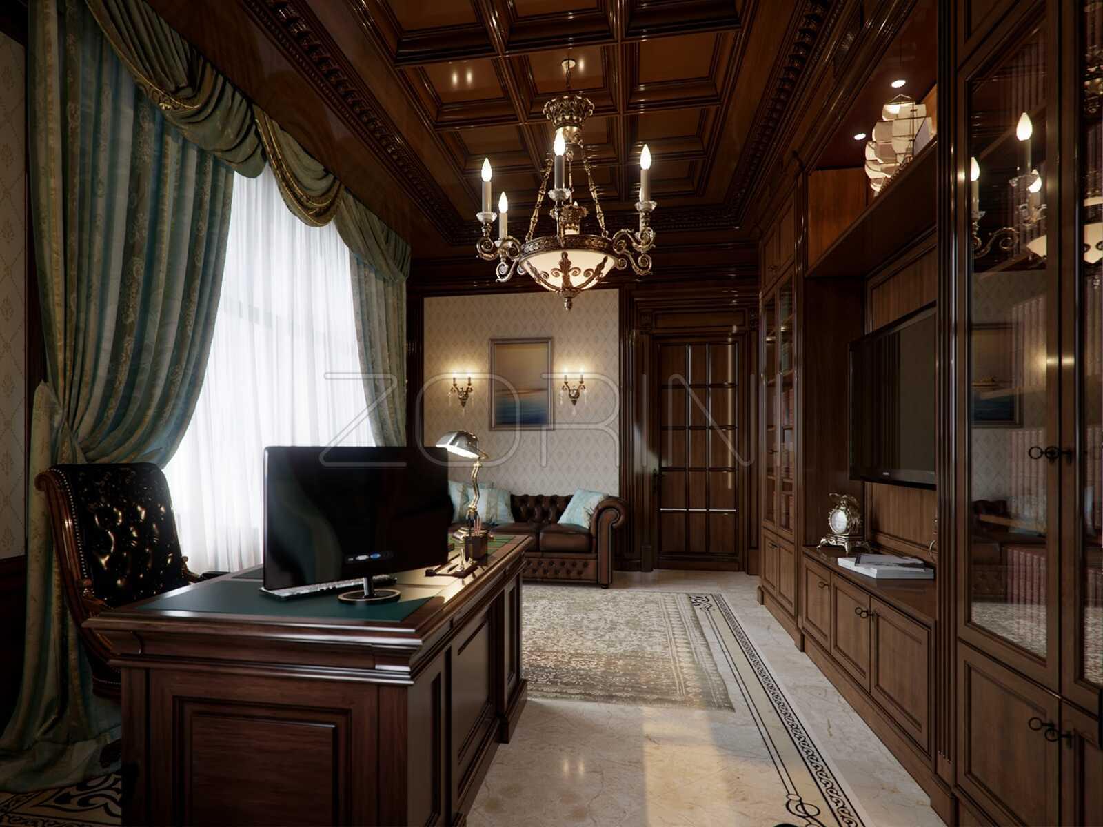 Классическая мебель для кабинета Балтимор - фото