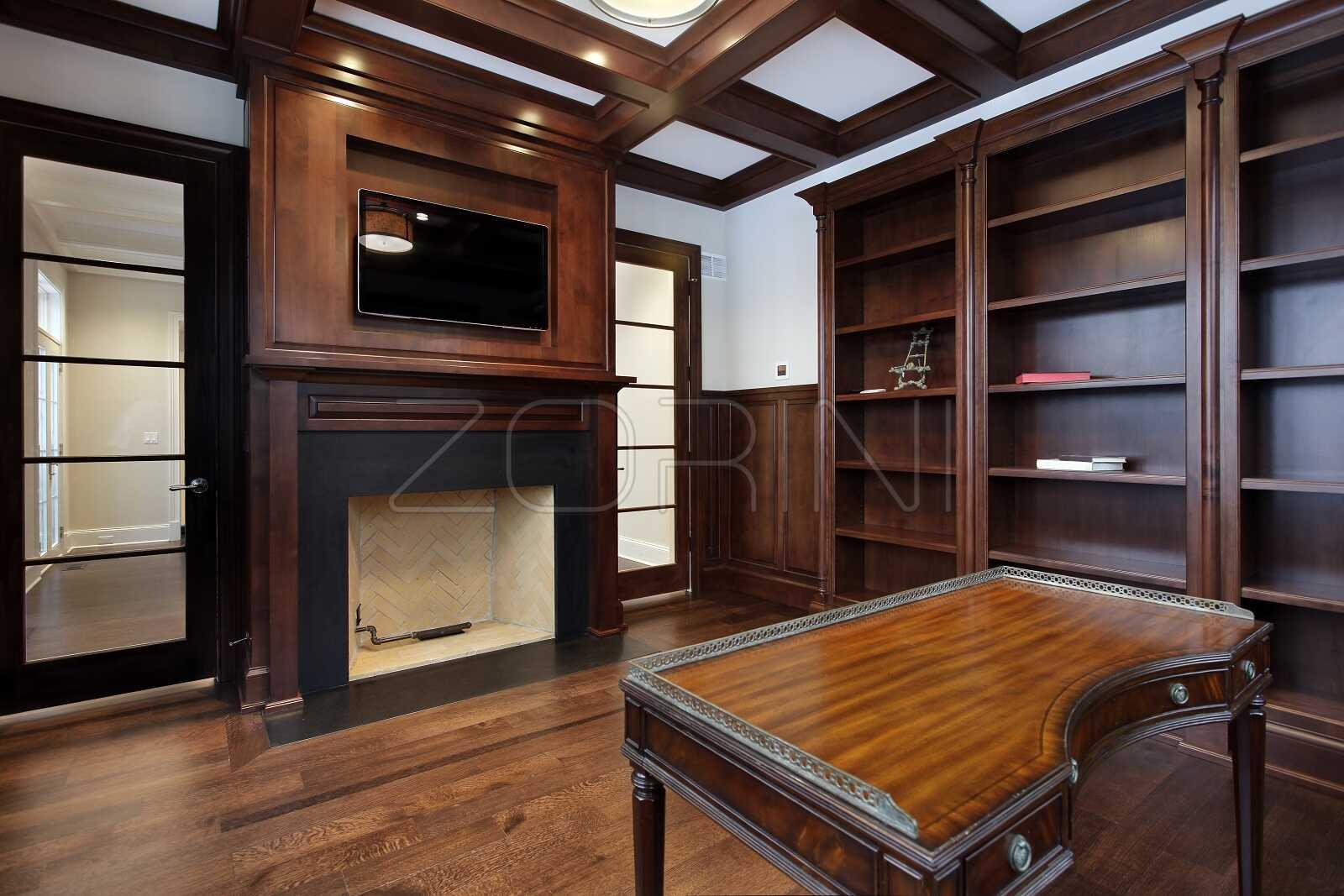 Классический стол для кабинета Остин - фото