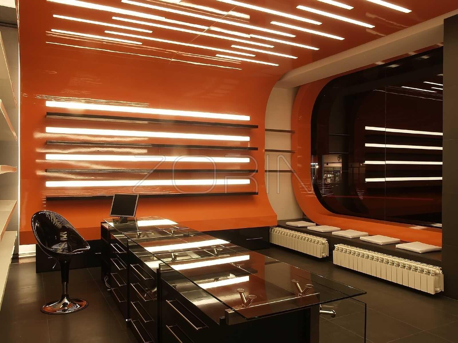 Мебель для кабинета из МДФ панелей Гилберт - фото