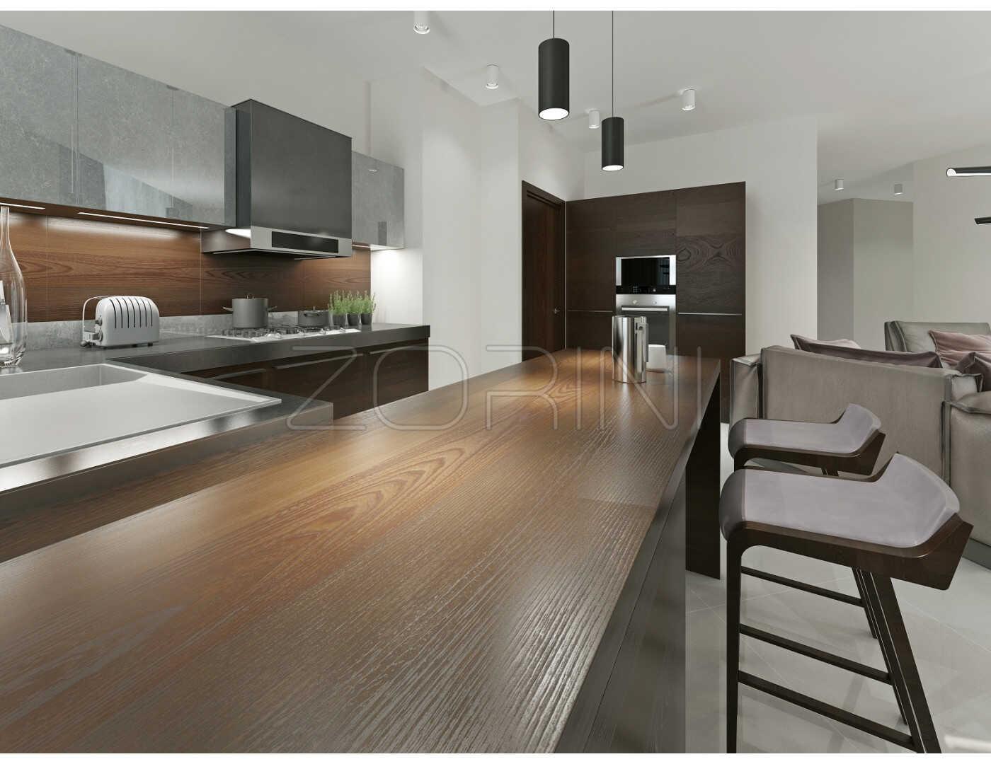 Мебель для кухни Аквамарин из МДФ - фото