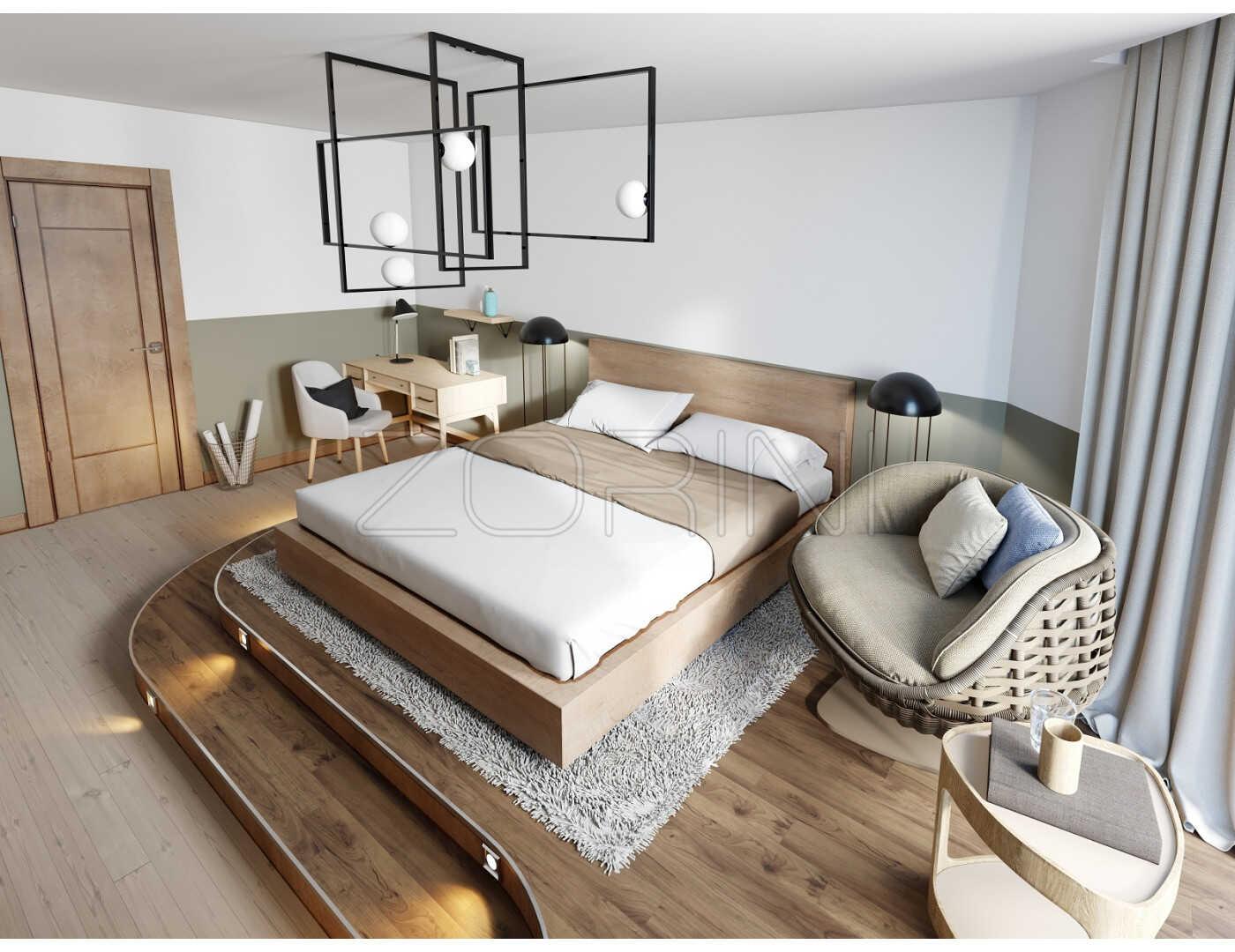Спальня Амазон в скандинавском стиле  - фото