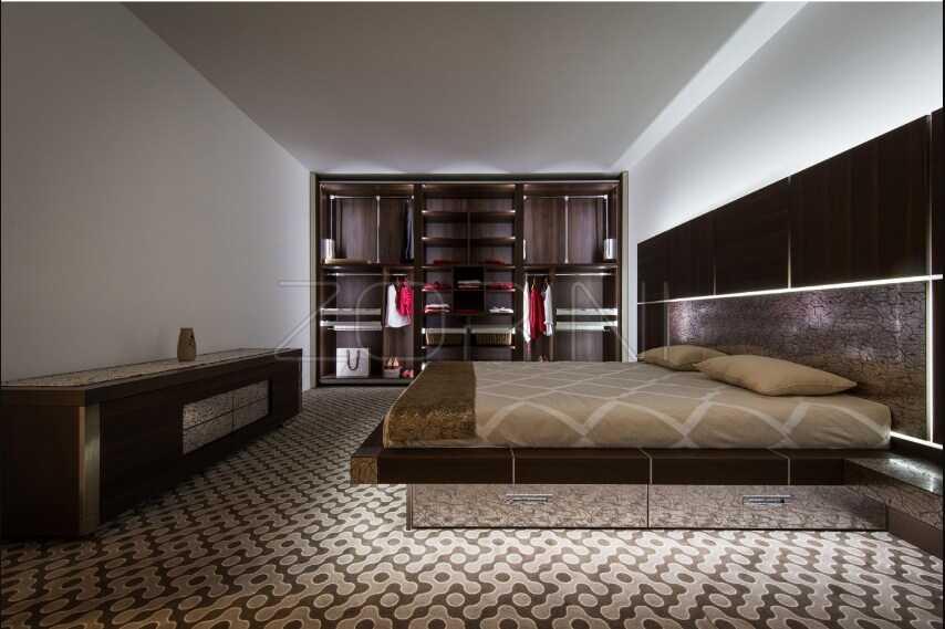 Спальня Маррон минимализм  - фото