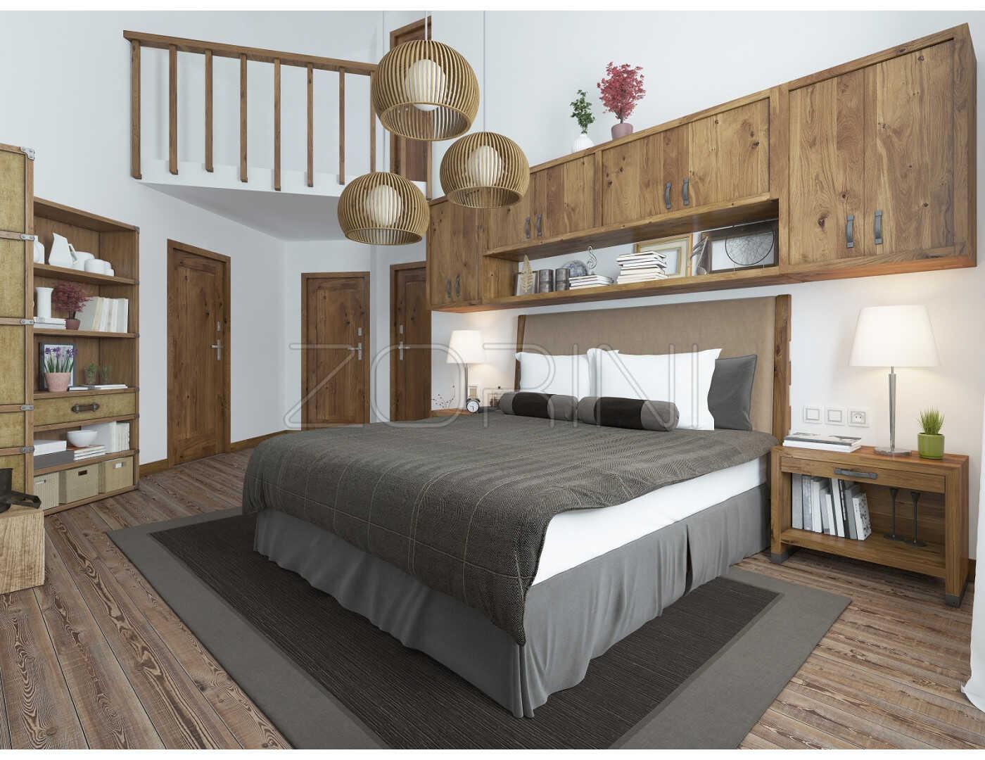 Мебель для спальни Рона в стиле лофт - фото