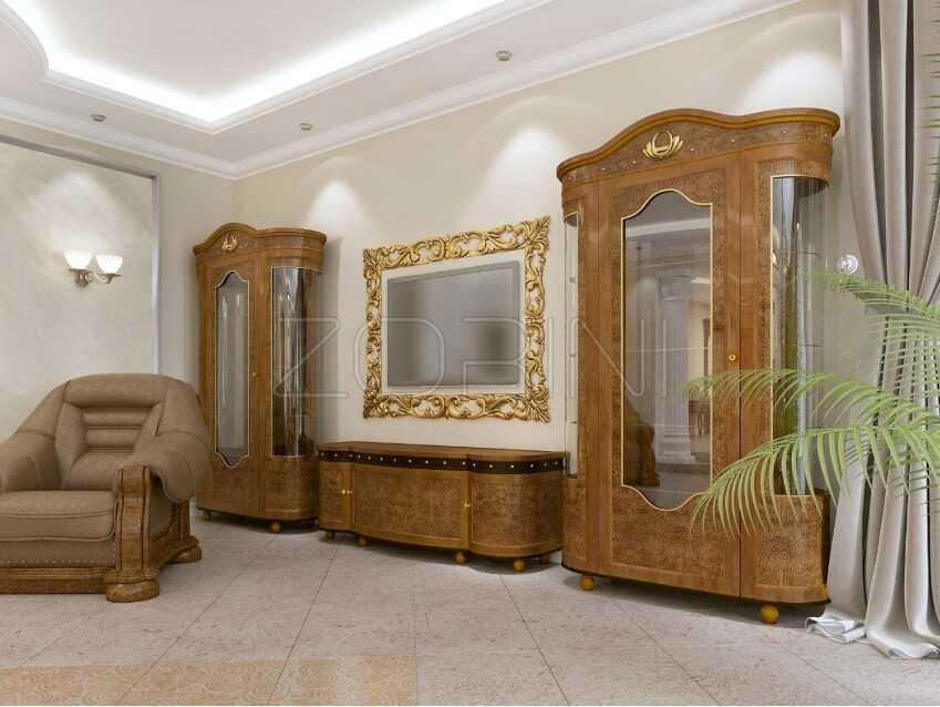 Мебель в гостиную Алмада в стиле барокко - фото