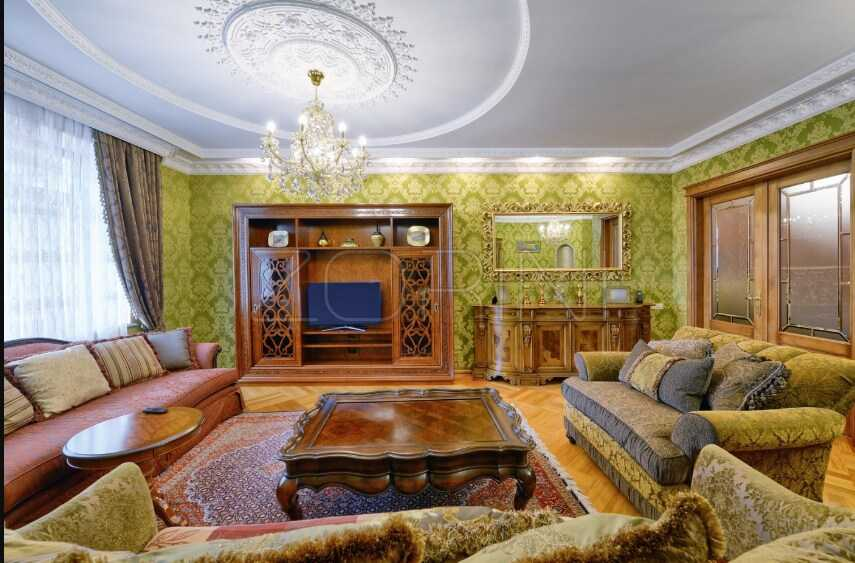 Мебель в гостиную Бежа в загородном стиле - фото