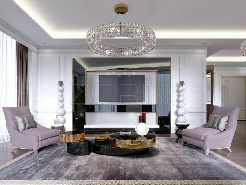 Мебель в гостиную в стиле арт-деко Бухта - фото
