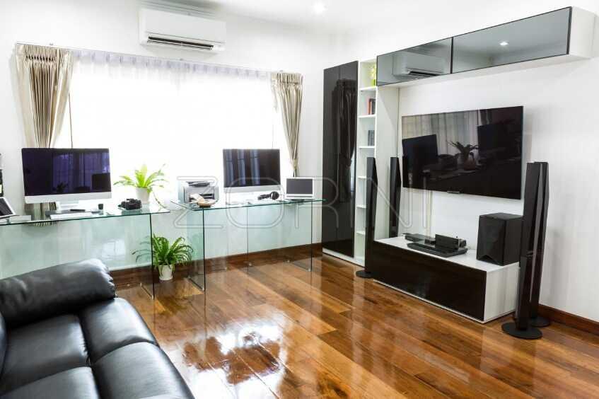 Мебель в гостиную Дрезден в черном стиле - фото