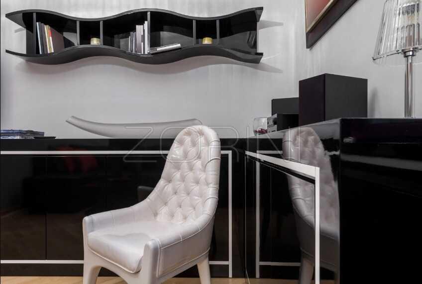 Гостиная Дюрен в черном стиле - фото