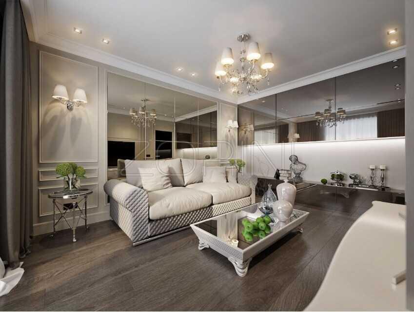 Гостиная Санторини в стиле неоклассика - фото